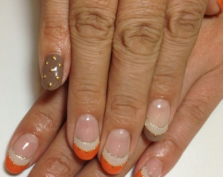 Colorful French Manicure