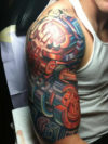 Colorful Half Sleeve Tattoo Design