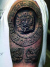 Cool Mayan Calendar Half Sleeve Tattoo