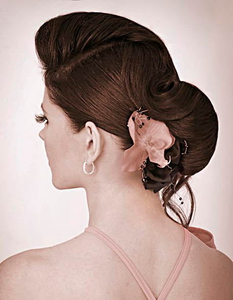 Floral Hair Accessory Hairstyle 2013