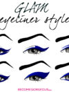 Glam Eyeliner Shapes And Styles