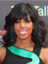 Kelly Rowland Wavy Hair With Bangs