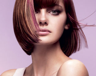 Light Brown Hair With Pink Highlights