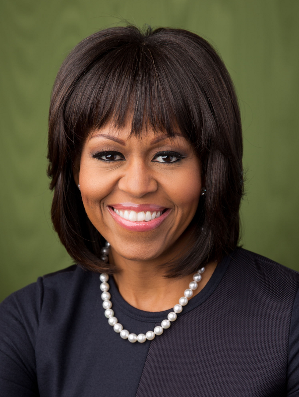 Michelle Obama Bangs Hairstyle