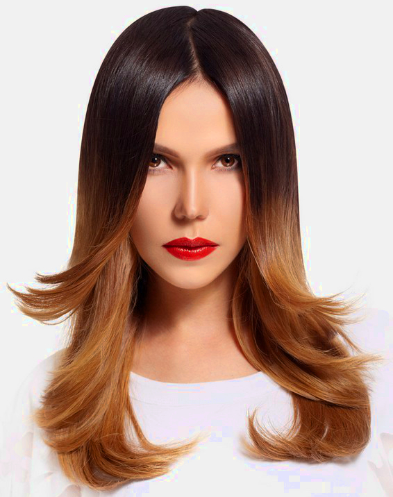 Ombre Hair Color Idea For Tanned Skin