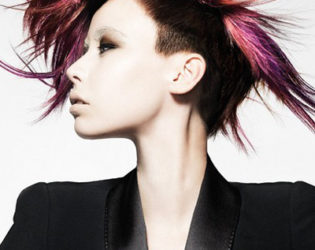 Pink Hair Highlights Hairstyle