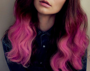 Pink Ombre Hair With Brown