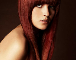 Red Hair Color Idea For Tanned Skin