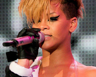 Rihanna Blonde Messy Mohawk