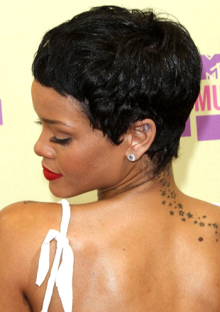 Rihanna Short Hair Side And Back