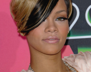 Rihanna Two Tone Haircut
