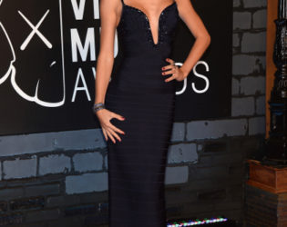Taylor Swift Herve Leger By Max Azria Navy Dress