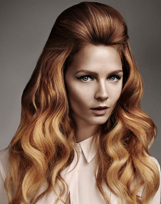 Warm Hair Color Idea For Tanned Skin