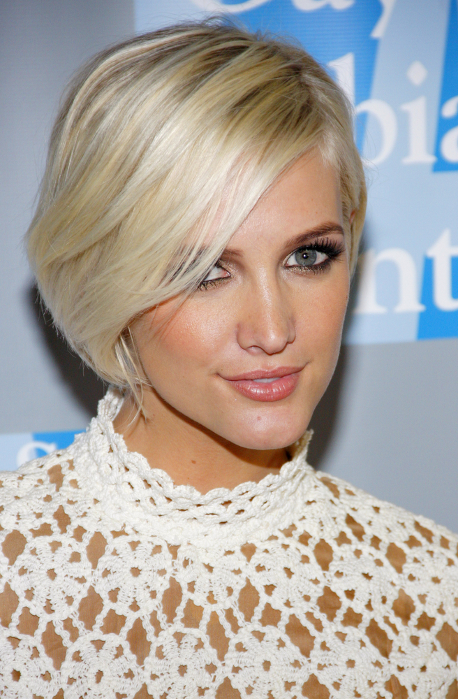 Ashley Simpson Long Face Shape Pixie Hair Style