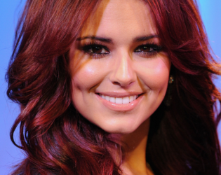 Cheryl Cole Burgundy Hair Color