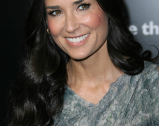 Demi Moore Brunette Hair Color