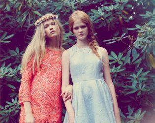 Erin Fetherston Spring 2014 Coral And Blue Dresses
