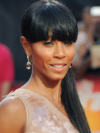 Jada Pinkett Smith Long Face Shape Ponytail Hair Style