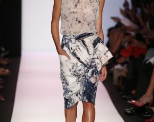 Printed Skirt And Shirt From Bcbg Max Azria Spring 2014 Collection