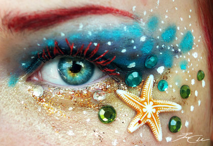 Mermaid Halloween Makeup by PixieCold