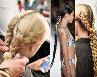 Braided Hairstyles Nyfw Spring 2014