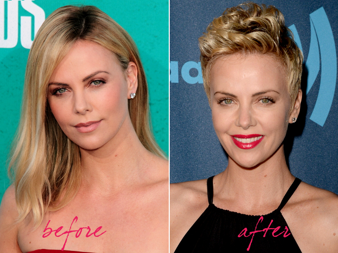 Charlize Theron Hair Makeover 2013