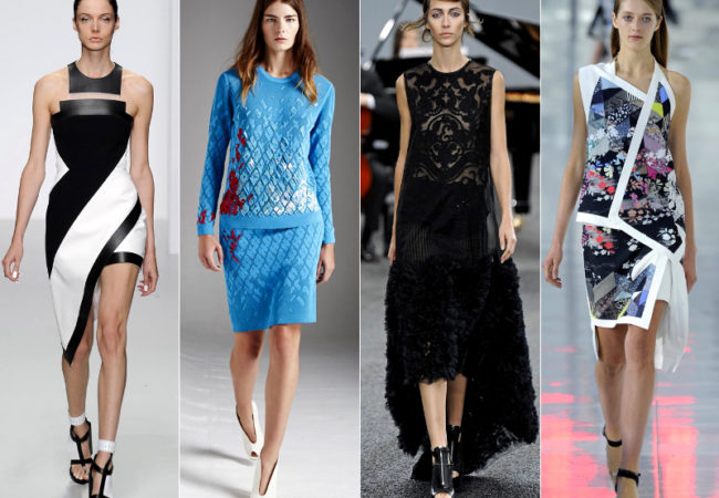 LFW Spring 2014 Trends: Asymmetry and Sportswear