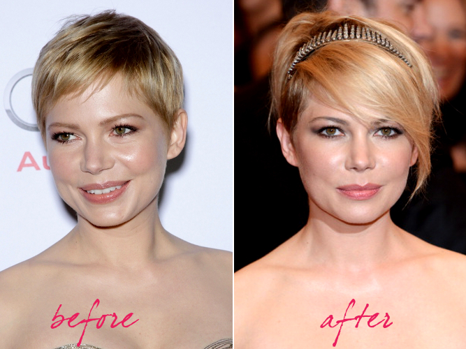 Michelle Williams Hair Makeover 2013