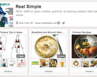 Real Simple Pinterest