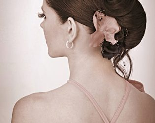 Sleek Updo Hairstyle For Bridesmaids