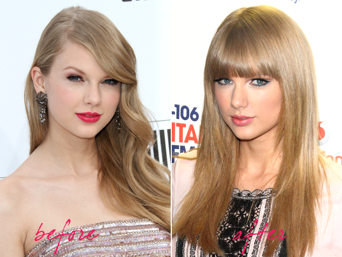 Taylor Swift Hair Makeover 2013