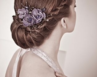 Twist Updo Hairstyle For Bridesmaids