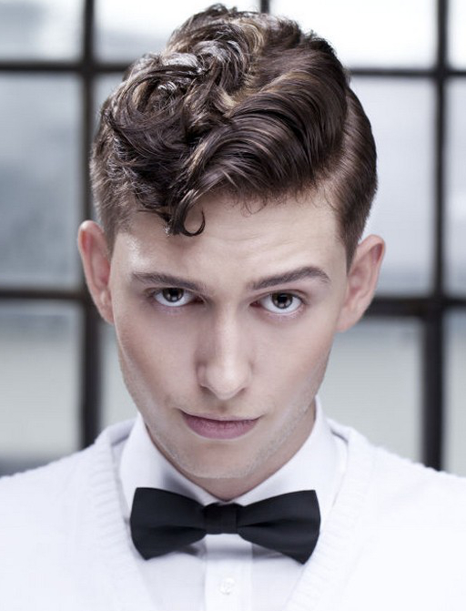 Vintage Short Curly Hairstyle For Men
