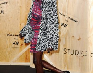 Alek Wek At H M For Isabel Marant Launch Party