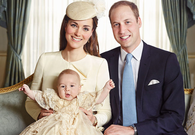 The Royal Family's Official Portraits from Prince George's Christening