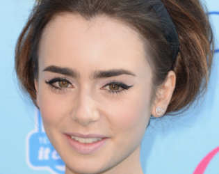 Lily Collins Bouffant Updo