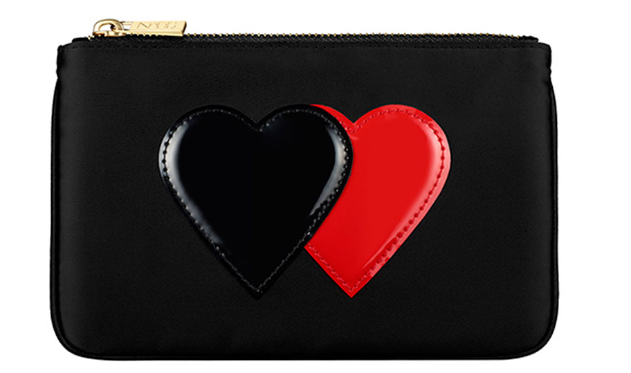 Nars Cosmetic Pochette Black With Hearts