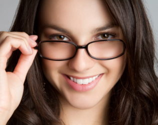 Beautifully Shaped Eyebrows With Glasses