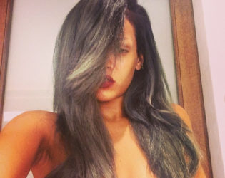Rihanna Grayish Hair
