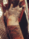 Rihanna's 2013 Hand Tattoo Before And After
