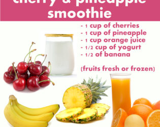 Cherry And Pineapple Smoothie