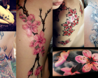 Cherry Blossom Tattoos With Meaning