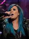 Demi Lovato Blue Hair Color 2013