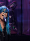 Demi Lovato Debuts Blue Hair On Jay Leno