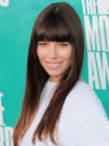Jessica Biel Bangs Hairstyle