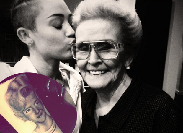 Miley Cyrus Gets a Portrait Tattoo to Honor Her Grandma