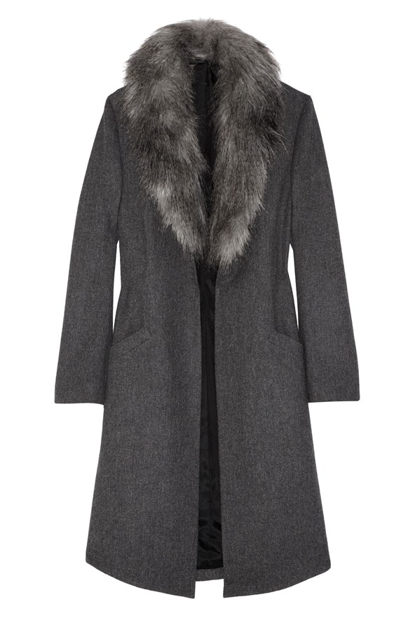 Net A Porter The Hunger Games Capitol Couture Fur Collar Coat