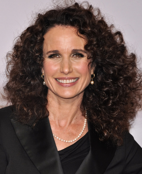 Andie Macdowell Naturally Curly Hair