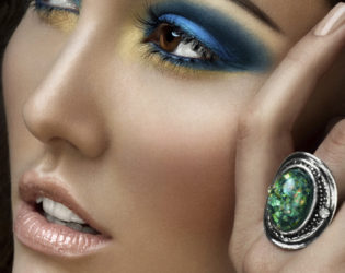 Intense Eye Makeup And Nude Colored Lips