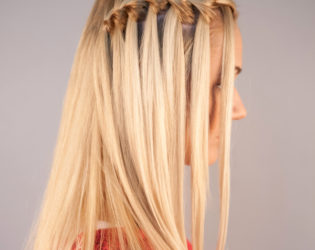 One Side Waterfall Braid Hairstyle